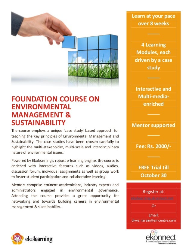 E brochure environmental management and sustainability