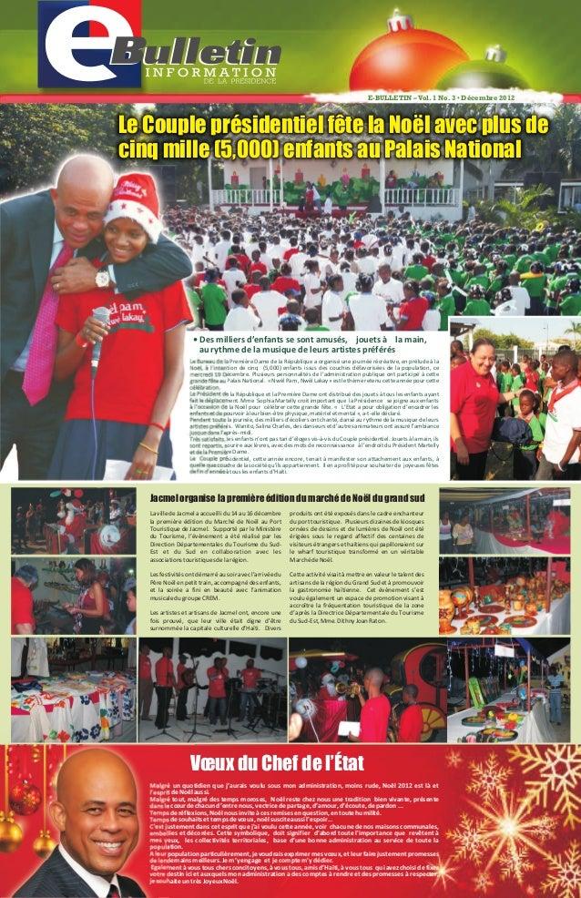 Le Bureau de la Première Dame de la République a organisé une journée récréative, en prélude à la Noël, à l'intention de c...