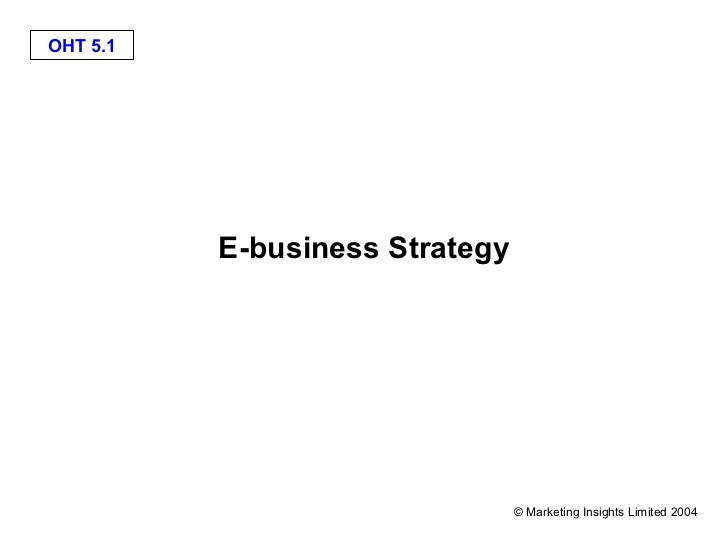 OHT 5.1          E-business Strategy                                © Marketing Insights Limited 2004