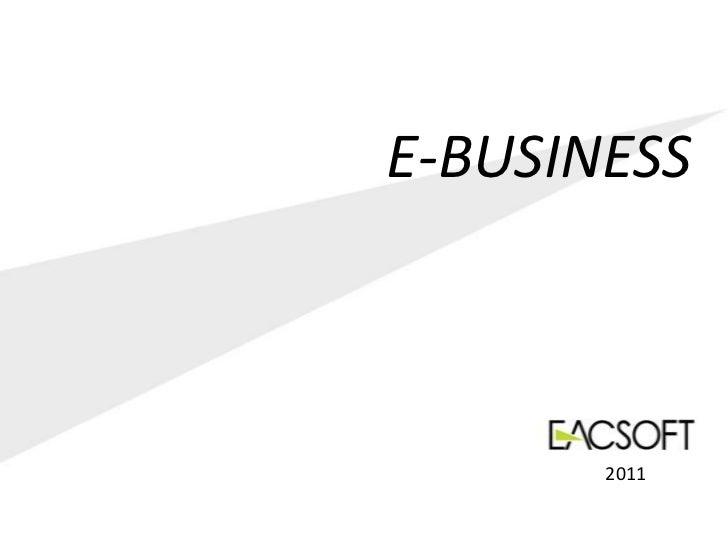 E-BUSINESS       2011