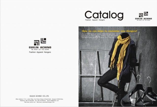 E catalog fashion apparel hangers- guilin achino