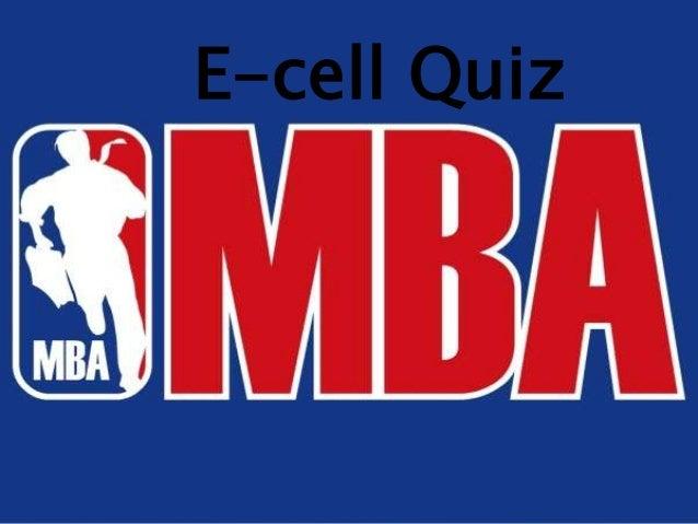 E-cell Quiz
