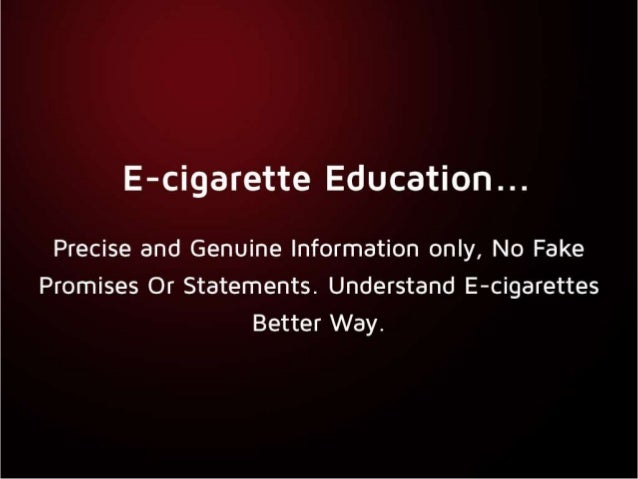 E-cigarette Education and Frequently Asked Questions