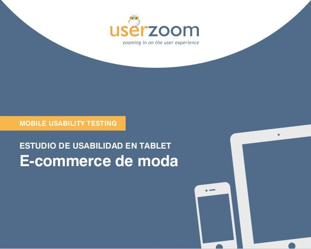 Estudio Usabilidad en Tablet en E-commerce de Moda