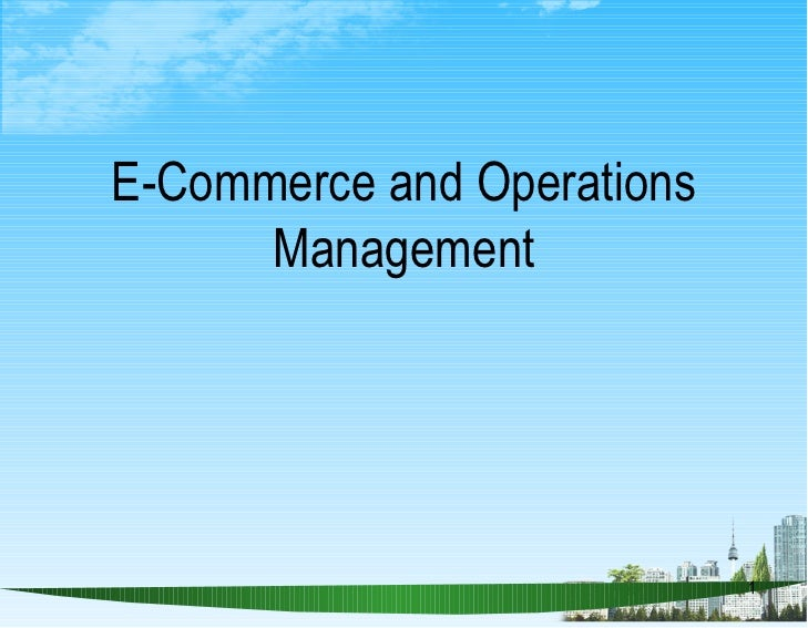 E commerce and operations management ppt @ bec doms