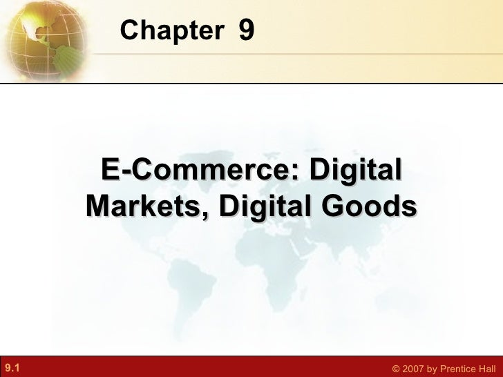 E commerce digital markets, digital goods