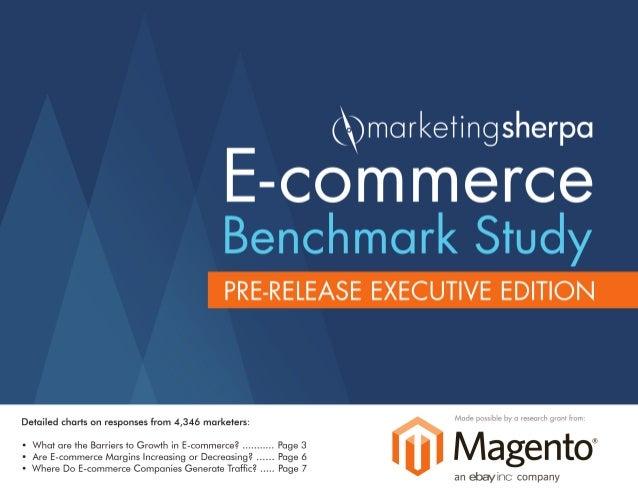 E-commerce Benchmark Study: Pre-Released Edition