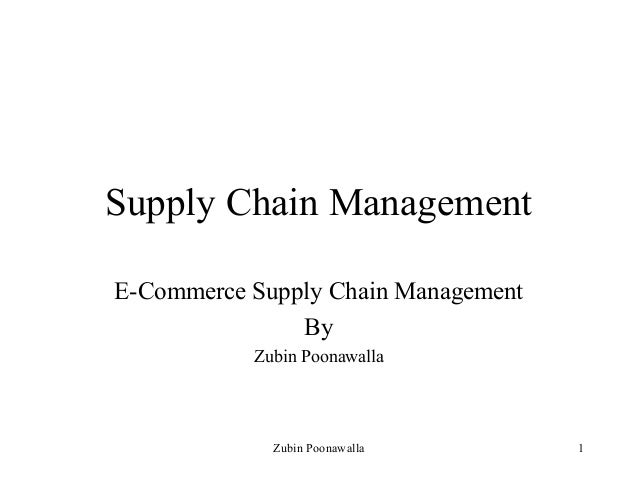 E commerce supply chain management
