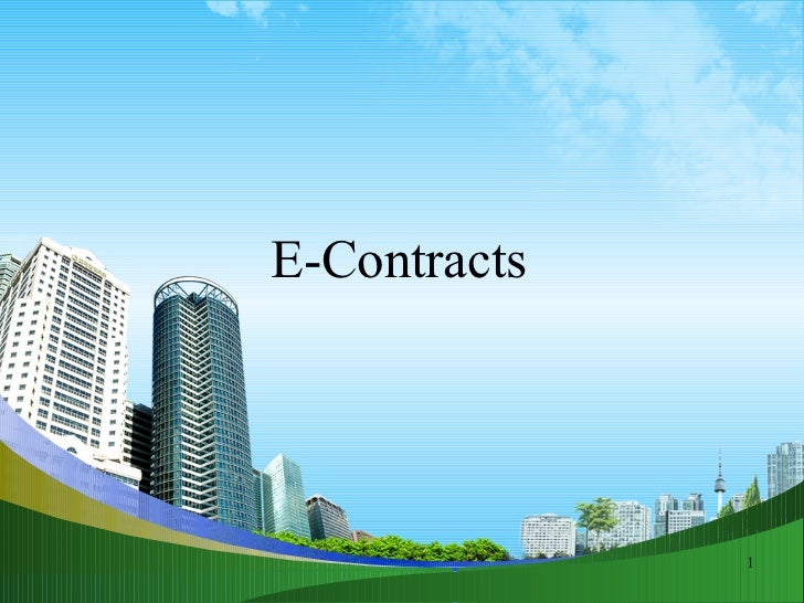 E contracts busines law