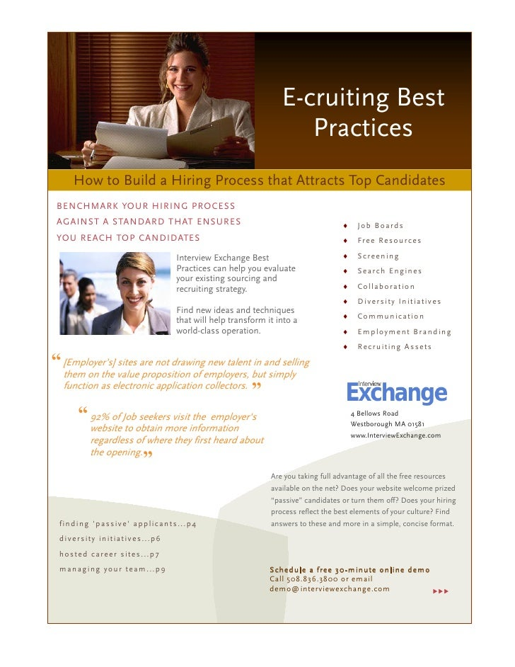 E-cruiting Best                                                                         Practices      How to Build a Hiri...