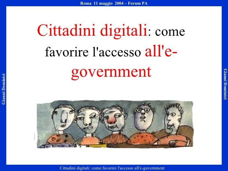 Cittadini digitali: come favorire l'accesso all'e-government