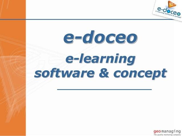 © e-doceo e-doceo e-learning software & concept