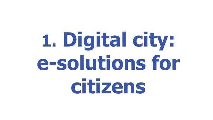 1.  Digital city: e-solutions for citizens