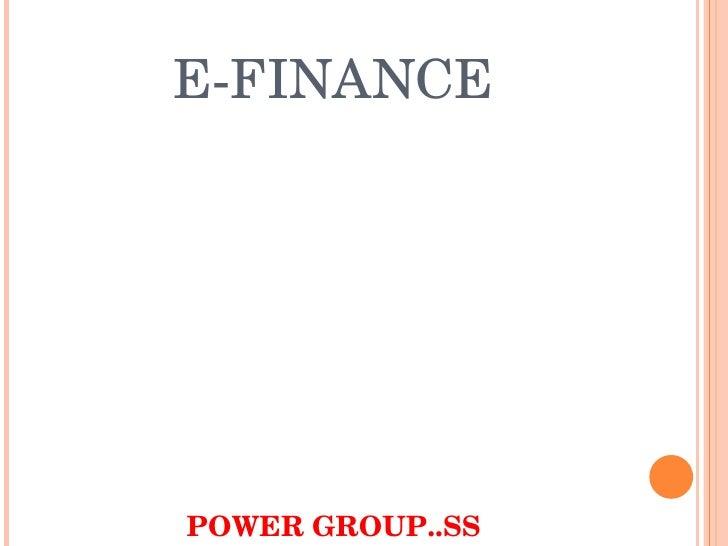 E Finance Er. S Sood