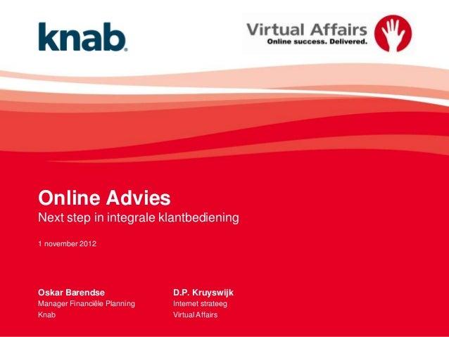 Online advies: next step in integrale klantbediening