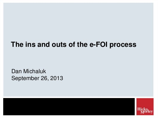 The ins and outs of the e-FOI process