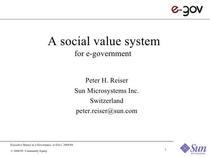 Social Value System for e-gov