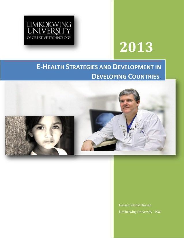 E health stratigies & development in developing countirs
