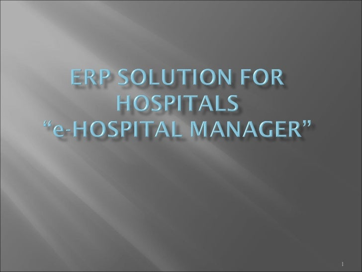 E hospital manager