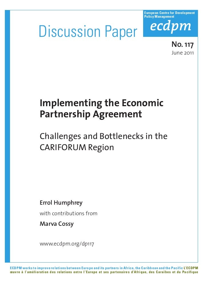 E. Humprehy & M. Cossy - Implementing the Economic Partnership Agreement Challenges and Bottlenecks in the CARIFORUM Region [ECDPM]
