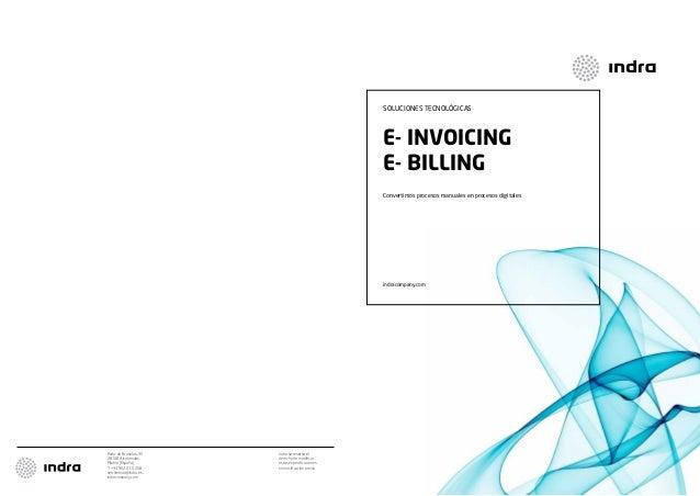 soluciones tecnológicas  E- Invoicing E- Billing Convertimos procesos manuales en procesos digitales  indracompany.com  Av...
