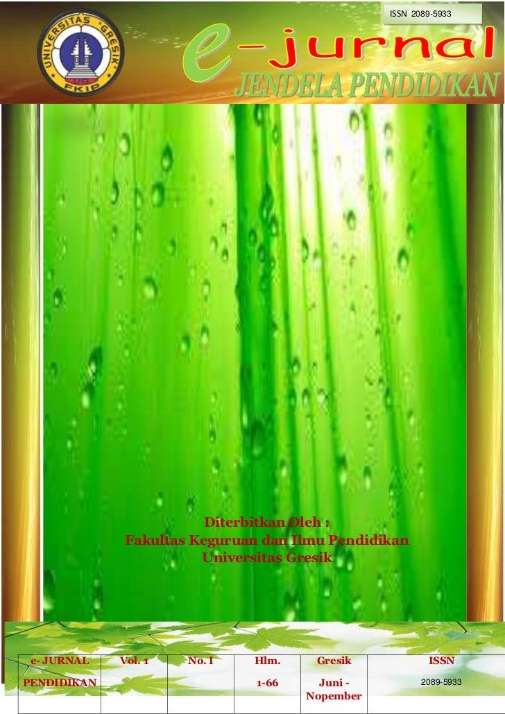 ISSN 2089-5933                         Diterbitkan Oleh :              Fakultas Keguruan dan Ilmu Pendidikan              ...