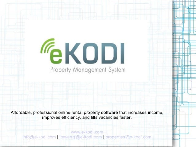 E kodi Property Manager Presentation