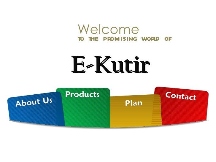 E kutir presentation-online