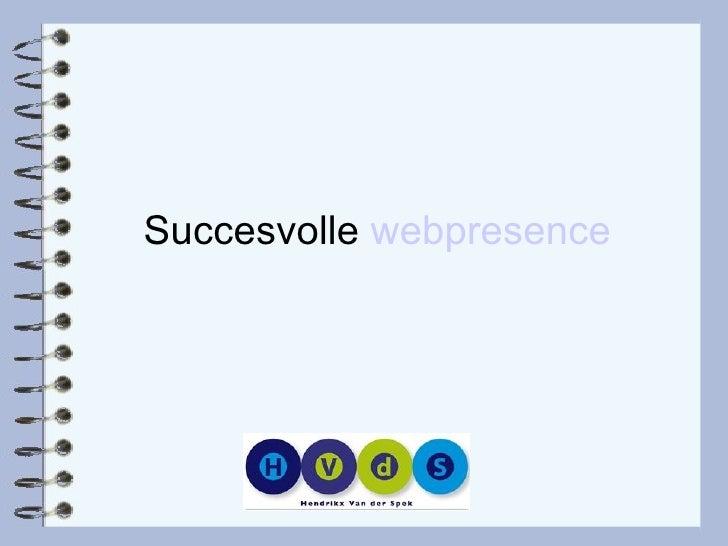 Succesvolle  webpresence