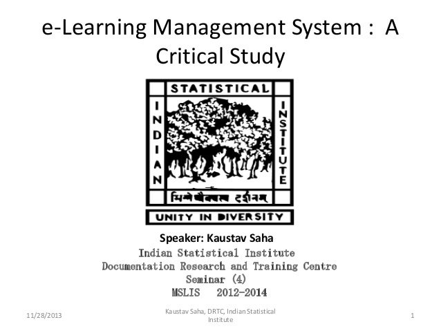 e-Learning Management System : a Critical Study