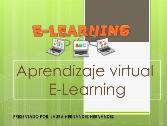 Aprendizaje virtual E-Learning