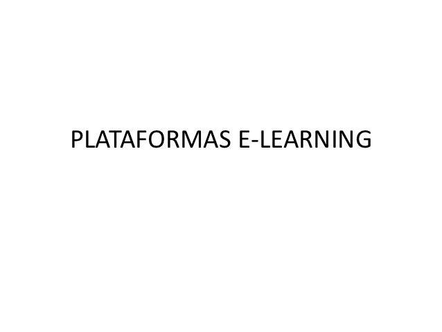 PLATAFORMAS E-LEARNING