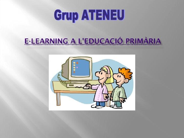 E learning a l'educació primària