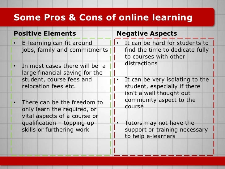 the benefits of online learning essay