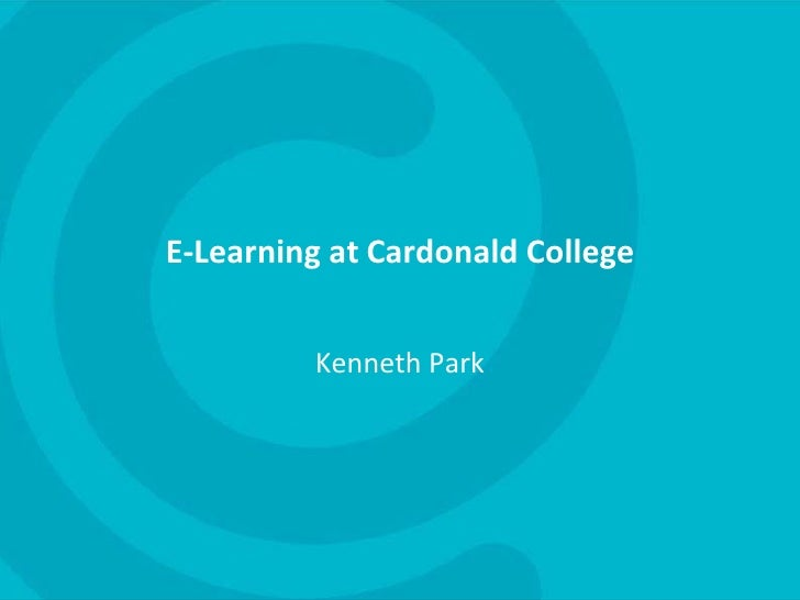 E-Learning at Cardonald College<br />Kenneth Park<br />