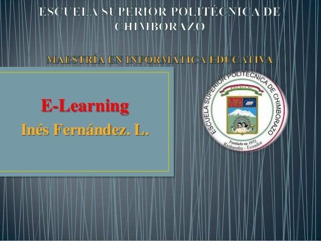 E-LearningInés Fernández. L.