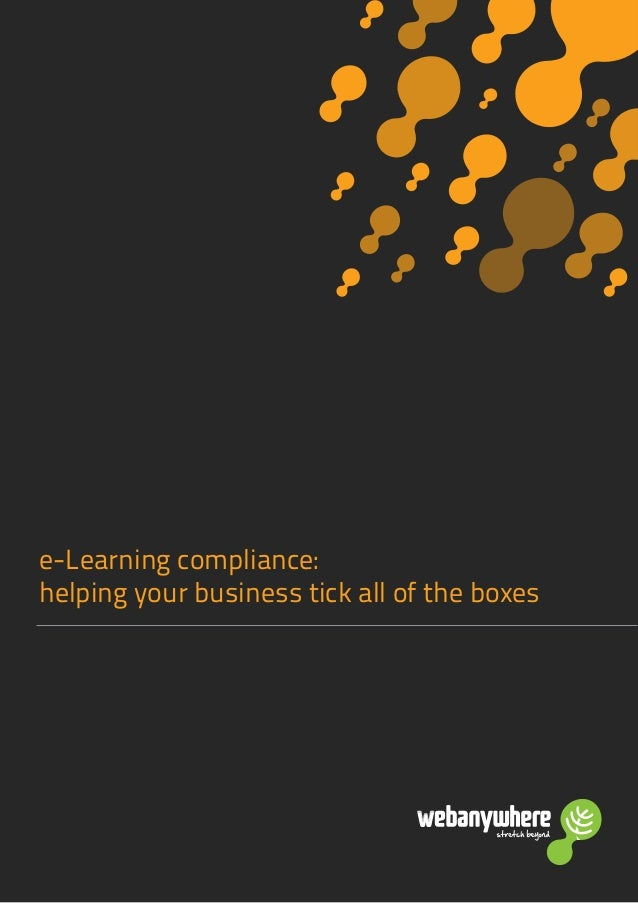 e-Learning compliance: helping your business tick all of the boxes