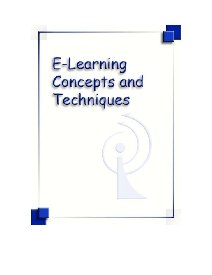E-Learning Concepts and Techniques