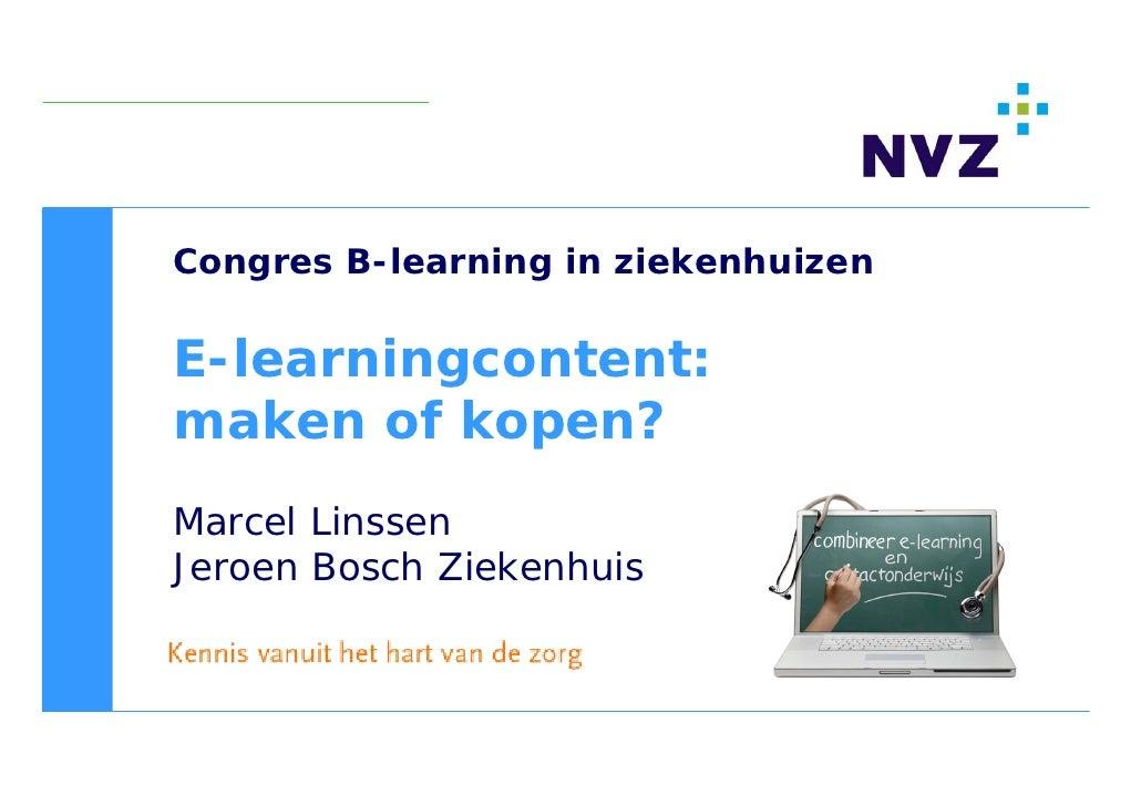 E learningcontent kopen of ontwikkelen