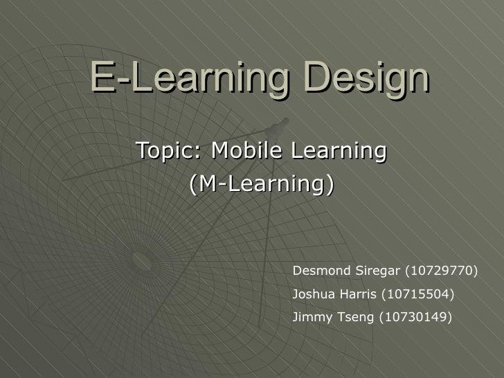 E Learning Design