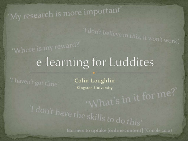 E learning for luddites