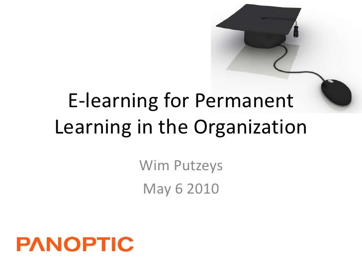 E learning for permanent learning in the organization