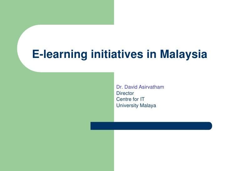 E-Learning in Malaysia