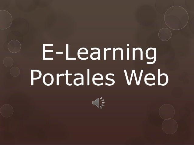 E-LearningPortales Web