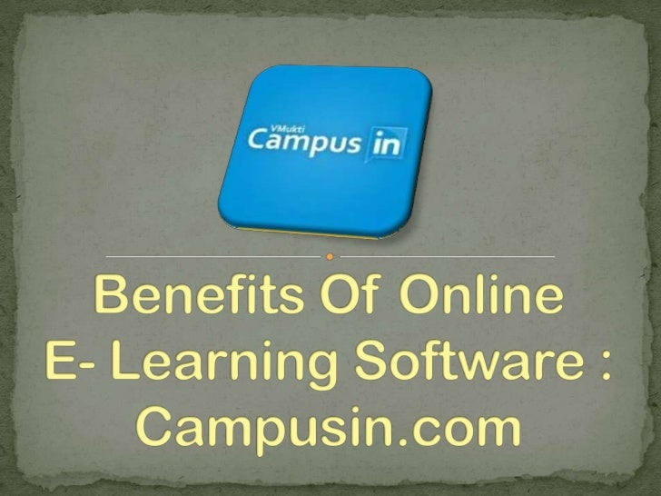 Online E-Learning Software - Campusin.com
