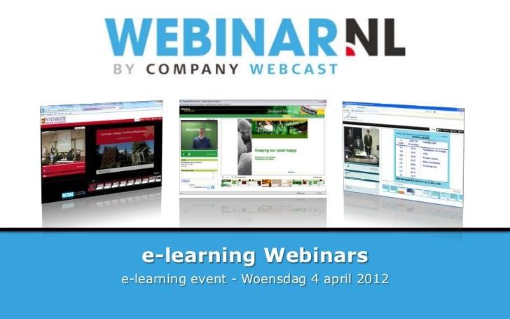 E learning & webinars slide share