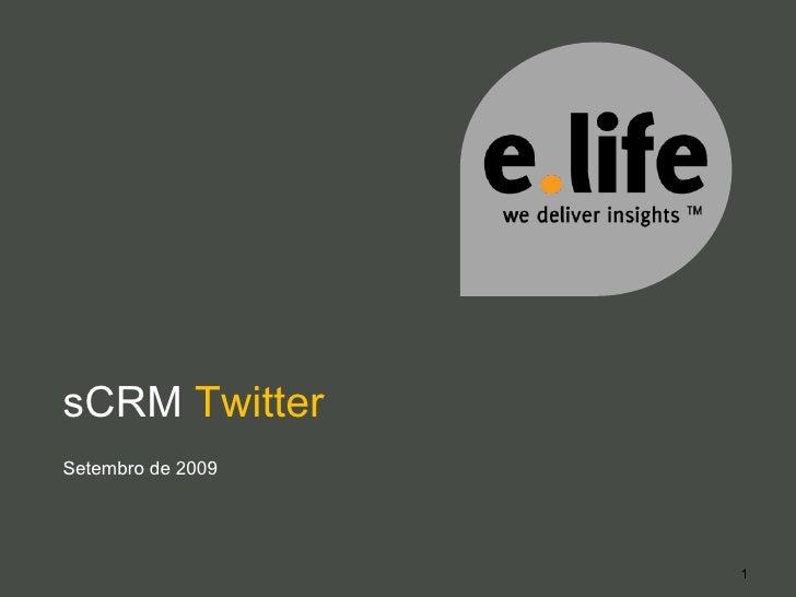 sCRM  Twitter Setembro de 2009