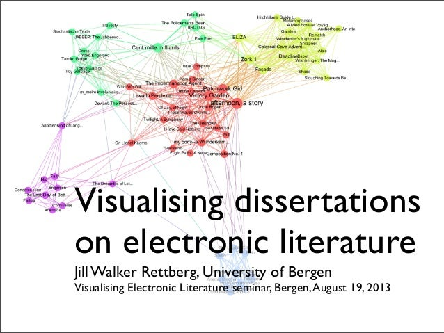 Visualising Dissertations on Electronic Literature (Visualising E-lit seminar August 19, 2013)