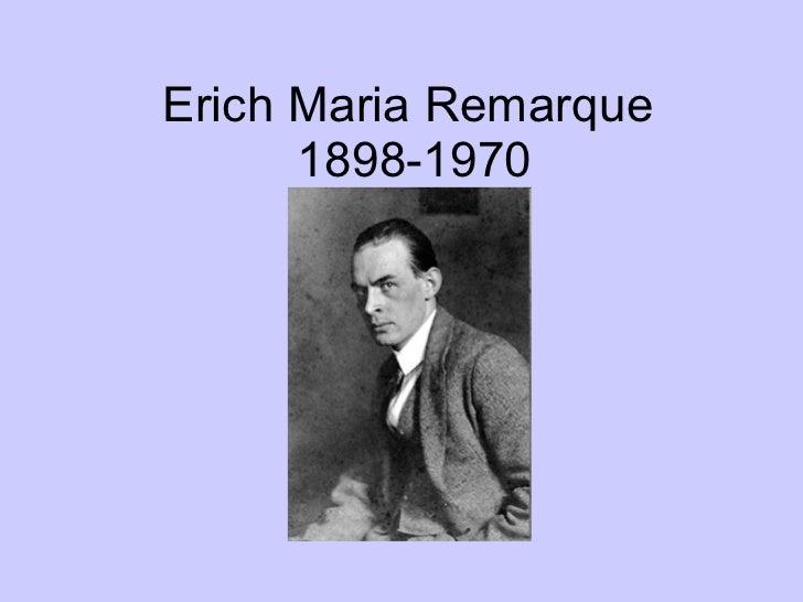 Erich Maria Remarque  1898-1970