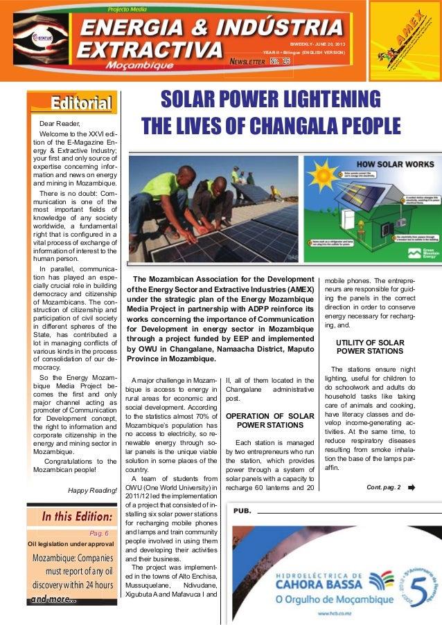 NR. 26NR. 26NR. 26NEWSLETTERBIWEEKLY- JUNE 20, 2013YEAR II • Bilingue (ENGLISH VERSION)ASSOCIAÇÃOMOÇAMBICANAPARAODESENVOLV...